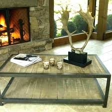 iron and wood side table side tables iron and wood side table weathered reclaimed wood and