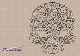 design embroidery patterned skulls embroidery designs pack 6 qty