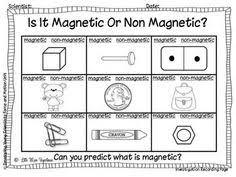 magnets worksheet science science pinterest worksheets