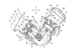 honda v4 superbike engine outed in patent photos asphalt u0026 rubber