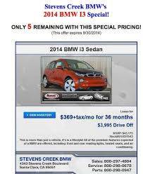 bmw car lease offers 2014 bmw i3 lease deals appear 369 month for electric car