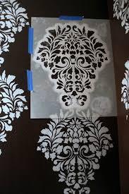 schablone wandgestaltung vintage antik schablone streichen damask design wohnen