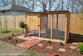 Backyard Chicken Coops Plans by Our Vintage Home Love Our New Coop