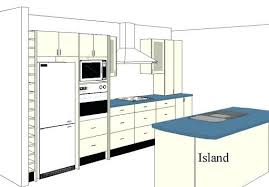 One Wall Kitchen With Island One Wall Kitchen Layout With Island Amazing Of Kitchen Design