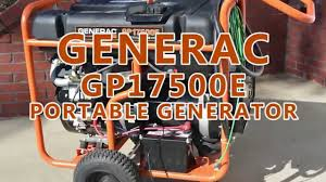 generac generator gp17500e short demo youtube