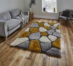 pebble rug designer rugs think rugs noble house nh5858 grey yellow pebble