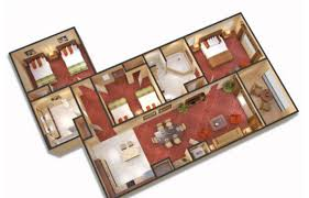 3 Bedroom Flat Floor Plan by 3 Bedroom Suites Near Disney World Floridays Resort Orlando