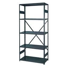 Shelving Home Depot by Edsal 36 In W X 72 In H X 18 In D 5 Shelf Steel Treadplate