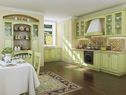 beige green kitchen green with beige beige kitchen in the interior photo