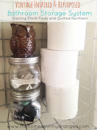 Hydrangea Bathroom Accessories by Diy Bathroom Storage Solution The Homespun Hydrangea
