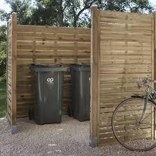 fabriquer cache poubelle panneau bois occultant natura l 90 cm x h 180 cm naturel leroy