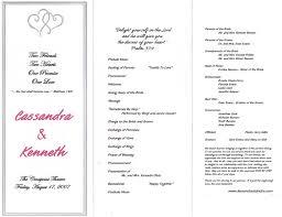 wedding ceremony programs exles wedding program exles diy wedding 12669