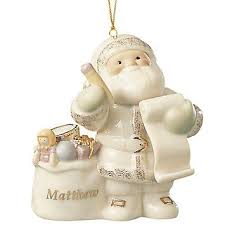 lenox ornaments santas trees my own santa ornament