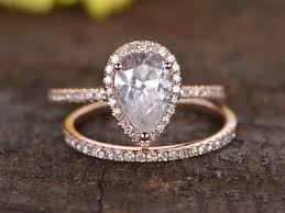 pear engagement ring 1 5 carat pear shaped moissanite engagement ring set diamond