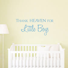 Wall Decals For Boys Thank Heaven For Little Boys Wall Quote Decal