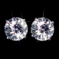 moissanite earrings forever one ghi 2 00 carat t w 6 5 mm certified moissanite