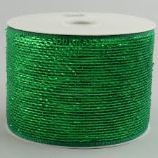 emerald green ribbon 4 poly mesh ribbon metallic emerald green rs200506