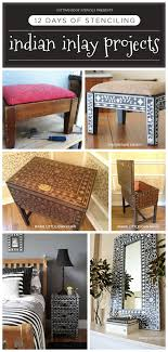 diy home decor gifts 12 days of stenciling indian inlay stenciled projects stencil