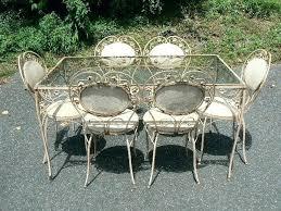Vintage Woodard Patio Furniture by Salterini Vintage Wrought Iron Patio Furniture Salterini Patio