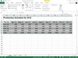 table tools design tab format tables from the ribbon in excel 2013 dummies