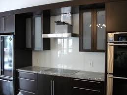 maple wood black raised door frosted glass kitchen cabinets