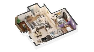 3d Apartment by 3d Graphic Design Agency Creating 3d Sales Plans