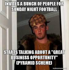 Football Sunday Meme - invites a bunch of people for sunday night football starts talking