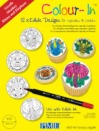 Resume On Pme Pme Colour In Edible Sugar Sheet Paper Topper Colouring Drawing