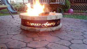 Large Fire Pit Ring by Outdoor Custom Metal Fire Pit With Round Fire Pit And Wood Is