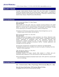 Sample Resume Objectives For Criminal Justice by Office Security Officer Resume Samples