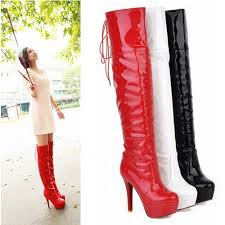 womens high heel boots size 12 free shipping 2013 winter the knee platform boots lace up