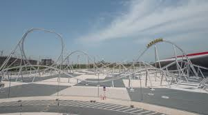 in abu dhabi roller coaster flying aces abu dhabi intamin rollercoaster