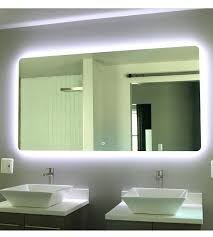 illuminated mirrors for bathrooms backlit mirrors bathroom psart co