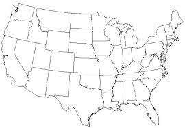 Black And White United States Map by Math Hombre Holiday Game Design
