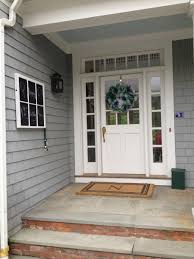 House Front Door Interior Magnificent Front Porch Decoration With Light Grey Wood