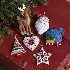 bucilla kits nordic santa bucilla christmas ornament kit set of 6