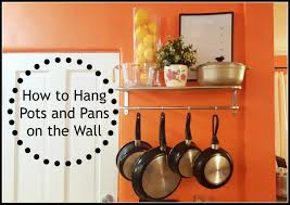 Hanging Pictures On Wall by Diy How To Hang Pots And Pans On Wall Updated Youtube
