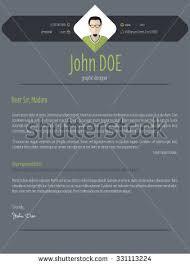 Resume With Cover Letter Template Cool Dark Resume Cover Letter Cv Stock Vector 302560577 Shutterstock