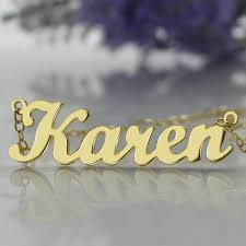 Customized Necklace Aliexpress Com Buy Freeshipping Karen Style Name Necklace Gold