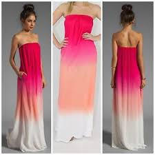 ombre maxi dress karissa strapless pink ombre tie dyed maxi dress jersey knit