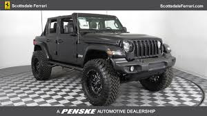 jeep wrangler jacked up matte black 2018 used jeep wrangler unlimited unlimited sport at lexus of