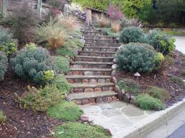 creative hillside landscape ideas porch and landscape ideas image of captivating how to landscape a steep slope on a budget 28 in home