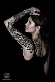 lace sleeve tattoo design by susanne yvonn pettersen inked