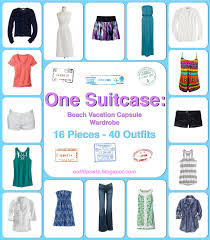over 40 work clothing capsule one suitcase beach vacation capsule wardrobe