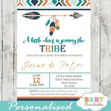 baby shower invitations for boy tribal baby shower invitation for boys boho arrow d242 baby