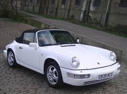 white porsche convertible classic chrome porsche 964 carrera 2 cabrio 1990 g white