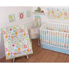 Crib Bedding Set With Bumper Sumersault Simple Circles Brights 9 Piece Nursery In A Bag Crib