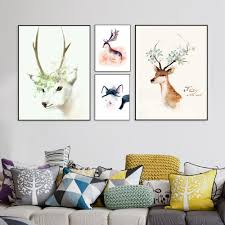 Wall Paintings For Living Room Online Get Cheap Deer Poster Aliexpress Com Alibaba Group