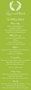 wedding itinerary wedding itinerary stuart