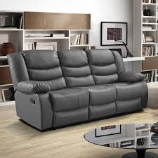 Grey Leather Recliner Epic Gray Leather Reclining Sofa 91 For Modern Inspiration